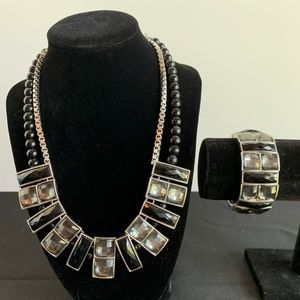 Sparkly fashion necklaces and bracelets (2 each)